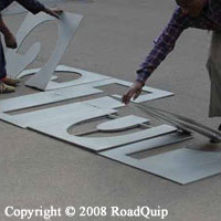 Roadquip Road Marking Fibrematic Plastic Marking Stencil